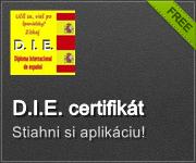 D.I.E. certifikát